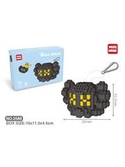 Конструктор Wisehawk & LNO Черный брелок Кавс 276 деталей NO. 2588 Black trinket Kaws Wise block