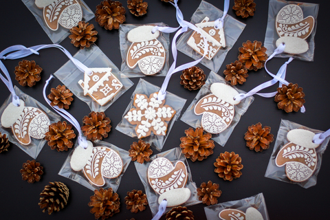 Брендированные пряники для корпоративных подарков на Новый Год (пример)