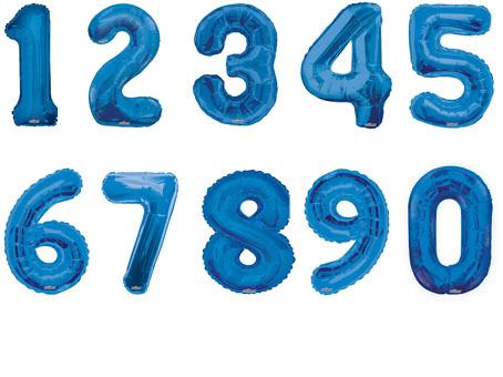 Фольгированный шар Цифра синяя в ассортименте  40