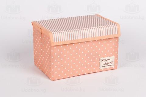 Подарочный набор из 12 предметов (розовый в горошек)