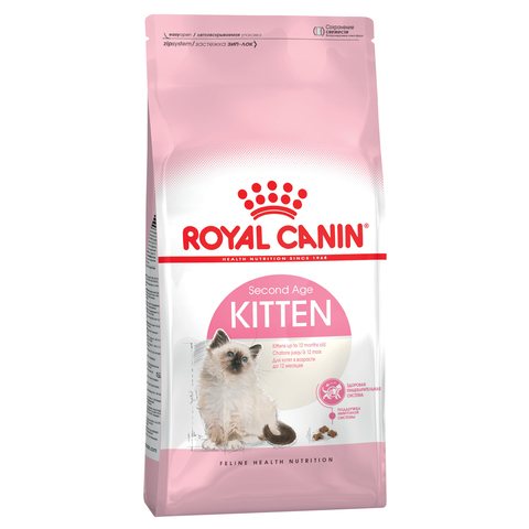 Royal Canin Kitten сухой корм для котят от 4 до 12 месяцев и беременных кошек 2 кг