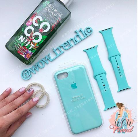 Чехол iPhone 7/8 Silicone Case /marine green/ нежно-мятный original quality