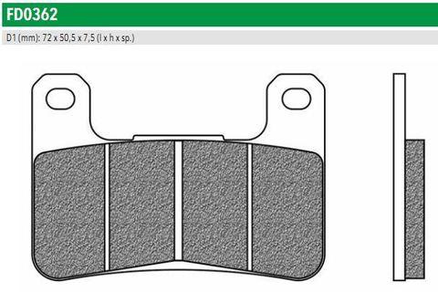 FD0362TS Передние тормозные колодки для HYOSUNG, KAWASAKI Z, SUZUKI GSX, INTRUDER (FDB2178ST)