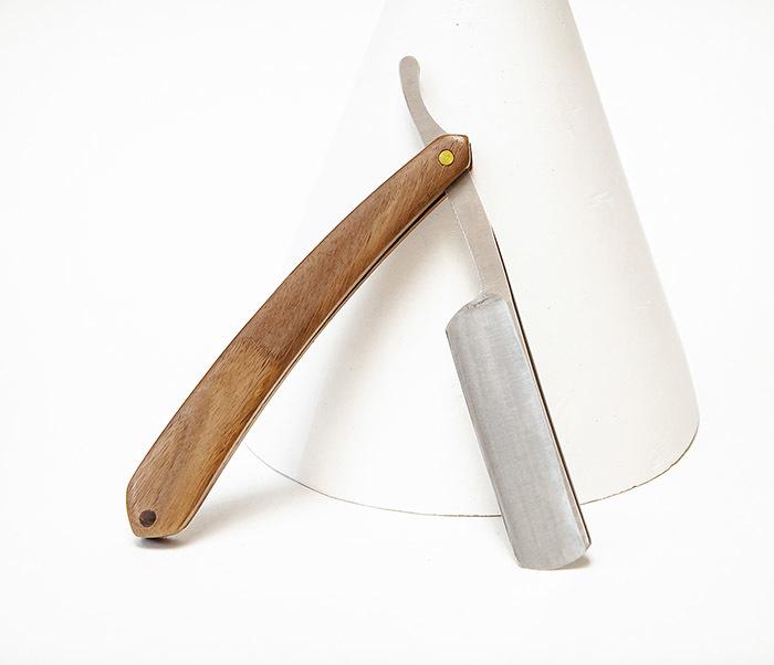 RAZ538-1 Традиционная опасная бритва с деревянной рукояткой фото 03