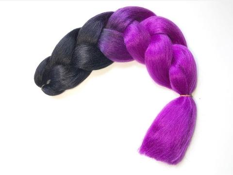 Канекалон B02 (омбре из чёрного в фиолетовый)
