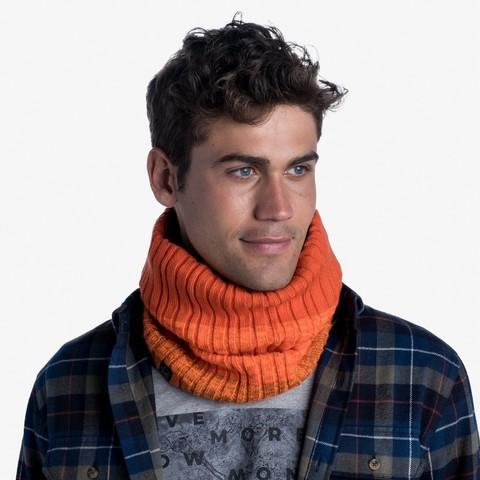 Вязаный шарф-труба с флисом Buff Neckwarmer Knitted Polar Igor Fire фото 2