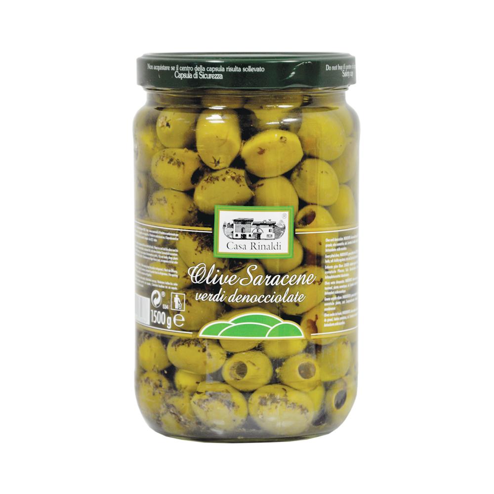 Оливки Casa Rinaldi Сарацинские консервированные без косточки 1500г