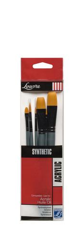 Набор кистей Lefranc&Bourgeois Louvre 6 шт [№ 3/6/12/12/16/24], синтетика, короткая ручка