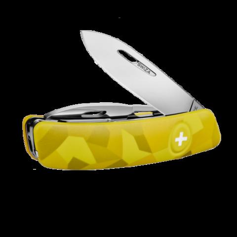 Уценка! Швейцарский нож SWIZA C03 Camouflage, 95 мм, 11 функций, желтый
