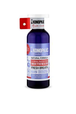 Натуральный ополаскиватель для полости рта Защита 24 часа, 500 мл (Dr.Konopka's)