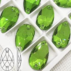 Купить ярко зеленые стразы пришивные Grass Green, Drope