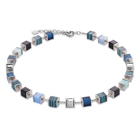 Колье Coeur de Lion Blue 4747/10-0700 цвет голубой, серебряный, синий, черный