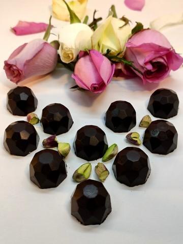 Конфеты шоколадные с Фисташками (дроблёными) на пекмезе 60 г