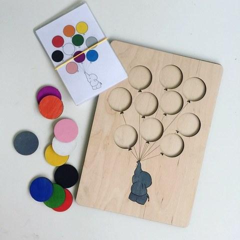 Развивающая игра Слоненок с шарами, ручная работа