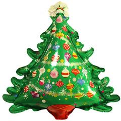 К Шар с клапаном (14''/36 см) Мини-фигура, Новогодняя елка(5шт)