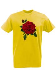 Футболка с принтом Цветы (Розы) желтая 001