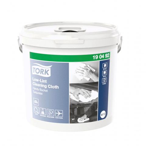 Материал протирочный нетканый  Tork W10 в ведре-дисп. 1сл 200 л.син.190492