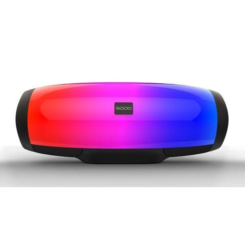 Универсальная мультимедиа стерео колонка с пульсирующей LED подсветкой Sodo L1 Life черный