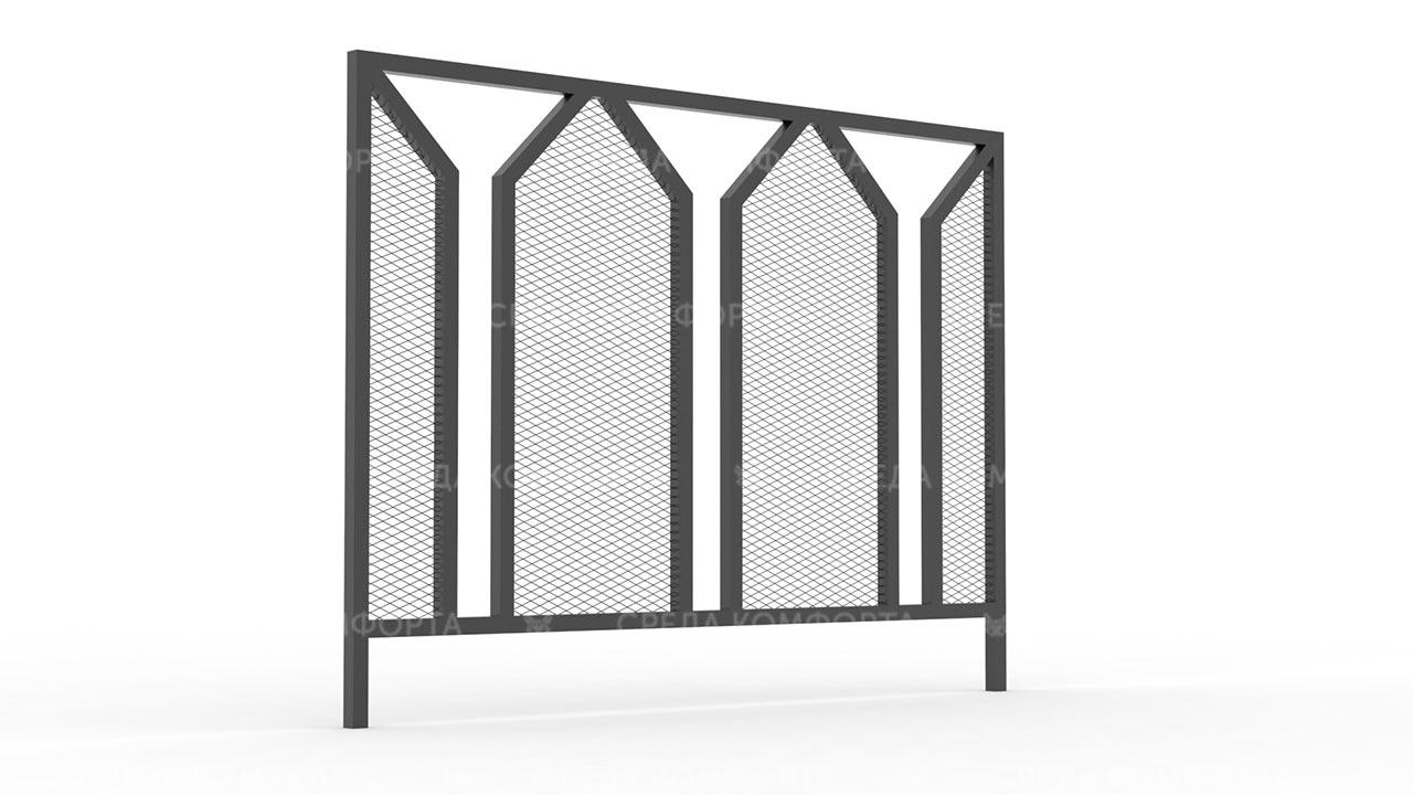 Забор из сетки рабицы ZBR0182