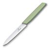 Нож Victorinox для овощей, лезвие 10 см прямое, зелёный
