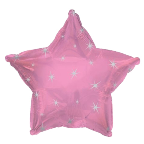 Звезда Розовая Искры, 45 см