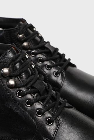Мужские черные кожаные ботинки Essex Preppy