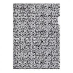Папка-уголок Attache Confidence A4 черная/белая 180 мкм