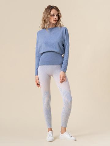 Женские брюки мультиколор из кашемира и вискозы - фото 2