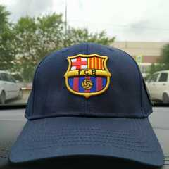 Кепка с логотипом Барселона (Бейсболка Barcelona) темно-синяя