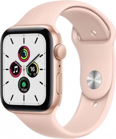 Часы Apple Watch SE, 44 мм, корпус из алюминия золотого цвета