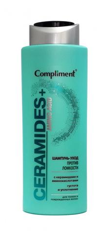 Ceramides+Amino Acid Шампунь-уход против ломкости для тонких и поврежденных волос, 400 мл