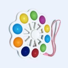 Пупырка вечная антистресс simple dimple (симпл димпл) спиннер цветок большой белый - 8 попов