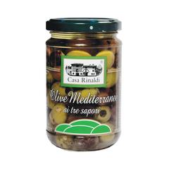 Оливки Casa Rinaldi Средиземноморские консервированные с косточкой 270г