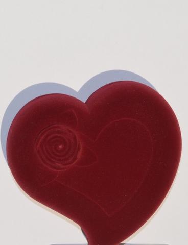 Сердце с розой (футляр для украшений, скоба)