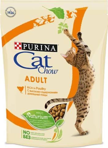 15 кг. PURINA CAT CHOW Сухой корм для взрослых кошек с домашней птицей Adult Poultry
