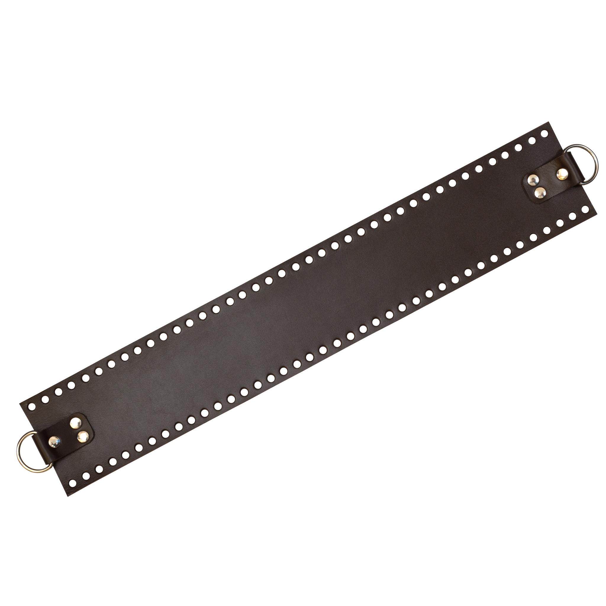 Вся фурнитура Боковая часть для сумки темно-коричневая широкая IMG_1212.jpg