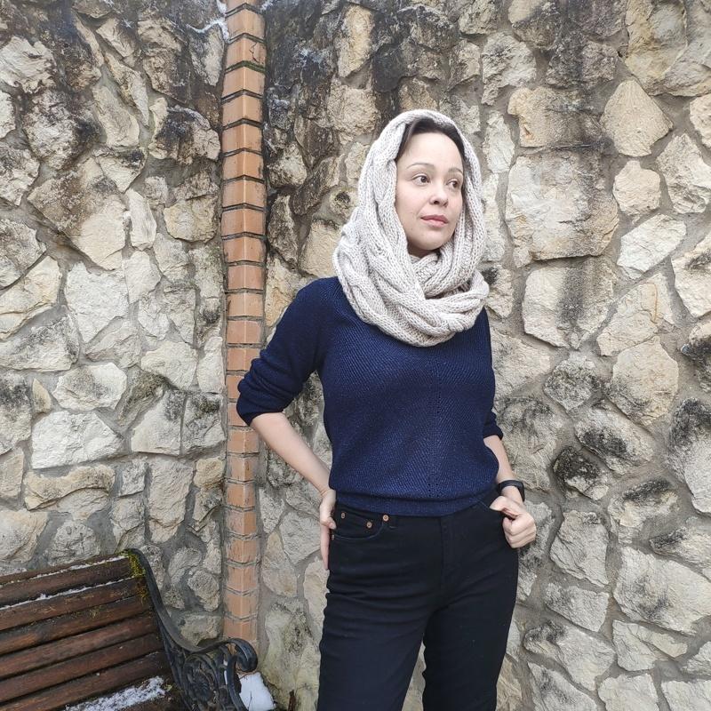 Фотография Снуд светло-серый купить в магазине Афлора