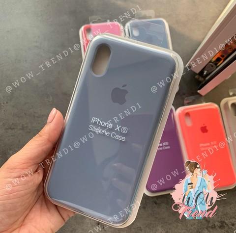 Чехол iPhone 7+/8+ Silicone Case Full /lavender grey/ серая лаванда