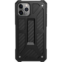 Чехол Uag Monarch для iPhone 11 Pro MAX чёрный карбон (Carbon Fiber)