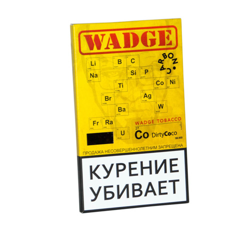 Табак WADGE CARBON 100gr DIRTY COCO