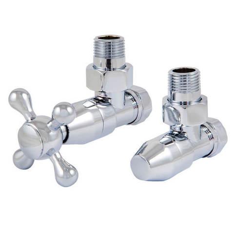 Комплект клапанов с ручной регулировкой Форма угловая Хром. Для стали GZ 1/2 x GW 1/2