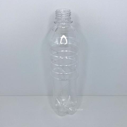 Бутылка 500 мл с узким горлом ø 28 мм прозрачная