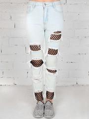 9D018 джинсы женские, голубые