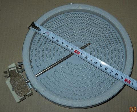 Конфорка HiLight 1800w/230v, D180/200, EGO 10.58117.744, 10.58111.004