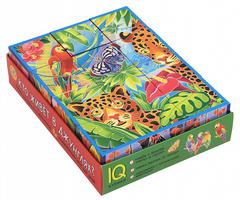 Умные кубики в поддончике. 12 штук. Кто живет в джунглях?