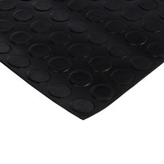 Коврик-дорожка против скольжения Пятачки, резиновый, черный, 3 мм, 1*10 м