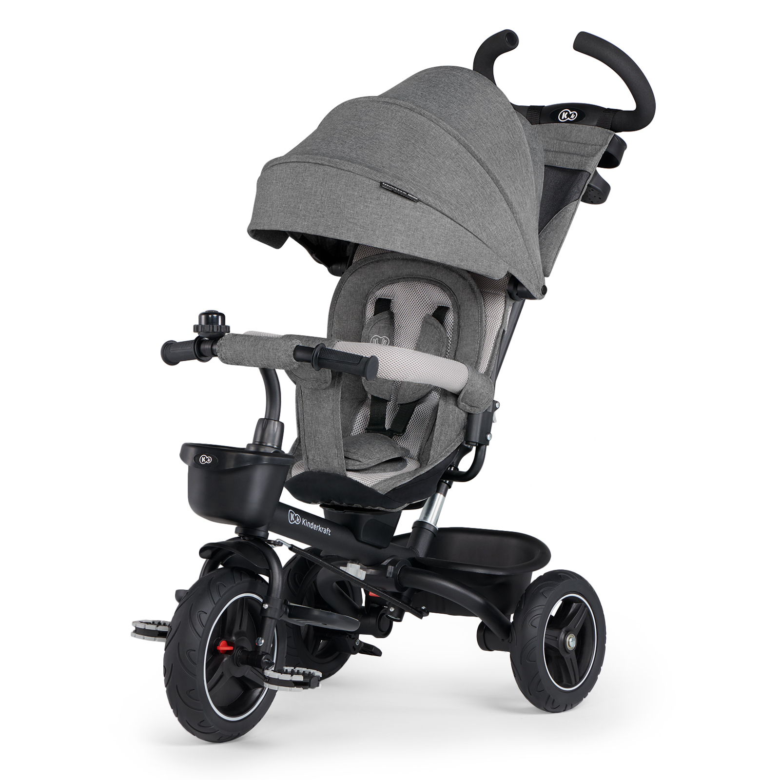 Велосипед Kinderkraft Spinstep Platinum Grey складной