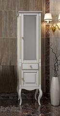 Пенал напольный Opadiris Лаура  45х180х36см. цвет: Белый с патиной.
