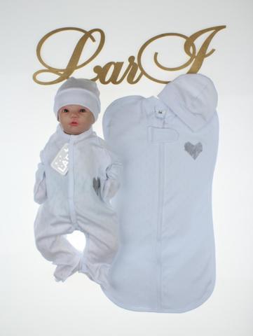 Комплект для новорожденных Карапуз  (белый)