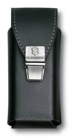 Чехол Victorinox для SwissTool Plus, кожаный, черный, замок с пружинной защелкой , в пакете с подвес